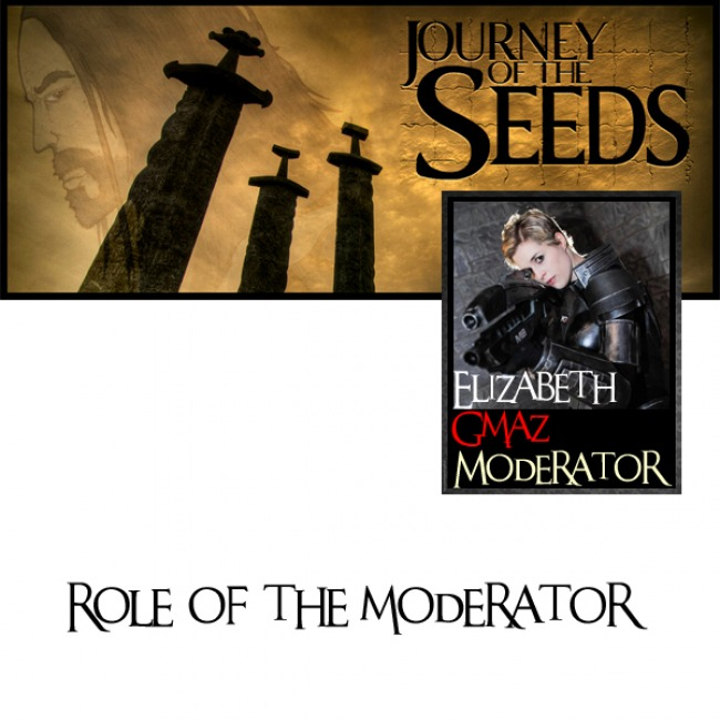 What is the role of a group moderator?