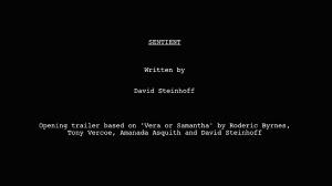 Sentient trailer script